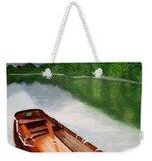 Boat On The Lake Weekender Tote Bag