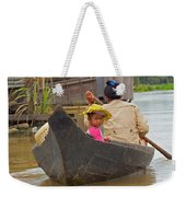 Boat On The River Weekender Tote Bag