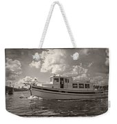 Boat On The Water Weekender Tote Bag