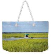 Boat Ride In The Marsh Weekender Tote Bag