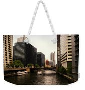 Boat Ride On The Chicago River Weekender Tote Bag