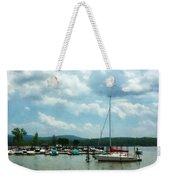 Boat - Sailboat At Dock Cold Springs Ny Weekender Tote Bag