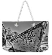 Boat - State Of Decay In Black And White Weekender Tote Bag
