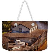 Boat - Tuckerton Seaport - Hotel Decrab  Weekender Tote Bag by Mike Savad