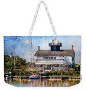 Boat - Tuckerton Seaport - Tuckerton Lighthouse Weekender Tote Bag