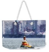 Boat - Tugboat By Manhattan Skyline Weekender Tote Bag