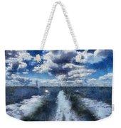 Boat Wake Photo Art 02 Weekender Tote Bag