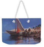 Boat Yard, Kilifi, 2012 Acrylic On Canvas Weekender Tote Bag