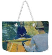 Boaters On The Yerres Weekender Tote Bag