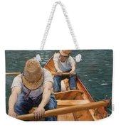 Boaters Rowing On The Yerres Weekender Tote Bag