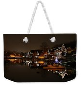 Boathouse Row All Lit Up Weekender Tote Bag by Bill Cannon