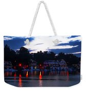 Boathouse Row Along The Schuylkill River At Dawn Weekender Tote Bag