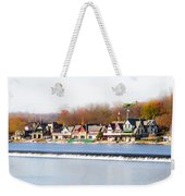 Boathouse Row In Autumn Weekender Tote Bag