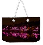 Boathouse Row In Pink Weekender Tote Bag