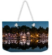 Boathouse Row Panorama Weekender Tote Bag