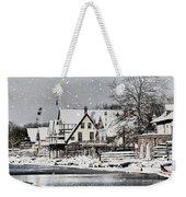 Boathouse Snow Weekender Tote Bag
