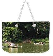 Boating In Central Park Weekender Tote Bag