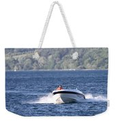 Boating On Grand Traverse Bay Weekender Tote Bag