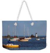 Boating On Long Island Sound Weekender Tote Bag by Joann Vitali