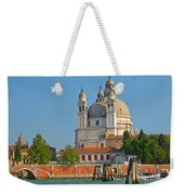 Boating Past Basilica Di Santa Maria Della Salute  Weekender Tote Bag