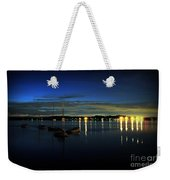 Boating - The Marina At Night Weekender Tote Bag