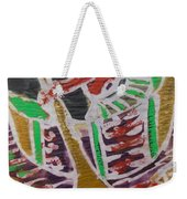 Boatman On The  Small River Nearby The Village Weekender Tote Bag