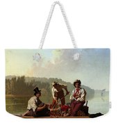 Boatmen On The Missouri Weekender Tote Bag