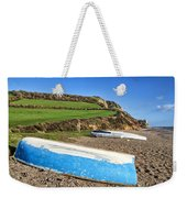 Boats Along Branscombe Beach Weekender Tote Bag