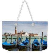 Boats Anchored At Marina Venice, Italy Weekender Tote Bag