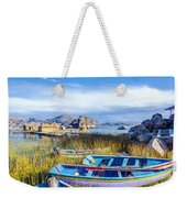Boats And Floating Islands Weekender Tote Bag