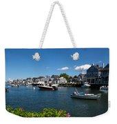 Boats At A Harbor, Nantucket Weekender Tote Bag