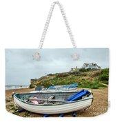 Boats At Burton Bradstock Weekender Tote Bag
