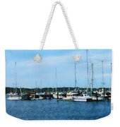 Boats At Newport Ri Weekender Tote Bag