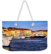 Boats At St.tropez Harbor Weekender Tote Bag by Elena Elisseeva