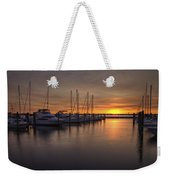 Boats At Sunset Weekender Tote Bag