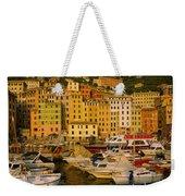 Boats At The Harbor, Camogli, Liguria Weekender Tote Bag