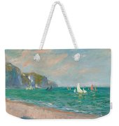 Boats Below The Pourville Cliffs Weekender Tote Bag