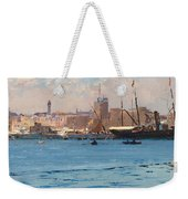 Boats In A Port Weekender Tote Bag