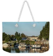 Boats In A River, Walnut Grove Weekender Tote Bag