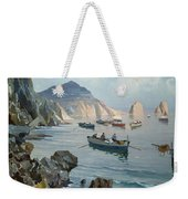 Boats In A Rocky Cove  Weekender Tote Bag