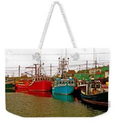 Boats In Branch Marina-nl Weekender Tote Bag