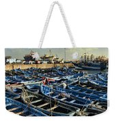 Boats In Essaouira Morocco Harbor Weekender Tote Bag