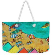 Boats In Front Of The Buildings Ix Weekender Tote Bag