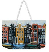 Boats In Front Of The Buildings Vi Weekender Tote Bag