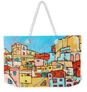 Boats In Front Of The Buildings Vii Weekender Tote Bag