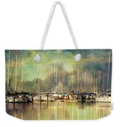 Boats In Harbour Weekender Tote Bag