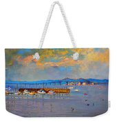 Boats In Piermont Harbor Ny Weekender Tote Bag
