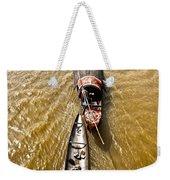 Boats In The Mekong River - Vietnam Weekender Tote Bag