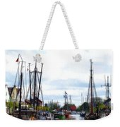 Boats In The Old Harbor Weekender Tote Bag