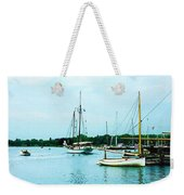 Boats On A Calm Sea Weekender Tote Bag